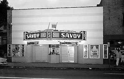 The Savoy movie theater on McDowell Street (near the current Aquatic Center) was one of just four movie theaters that African Americans could visit in Charlotte during the 1940s and '50s before it closed down. Back then, movies didn't come to black theaters until they had run for weeks or months in the white theaters.